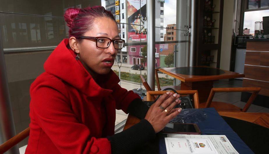 Luna es la primera mujer transexual que contrae matrimonio legalmente en Bolivia (EFE)