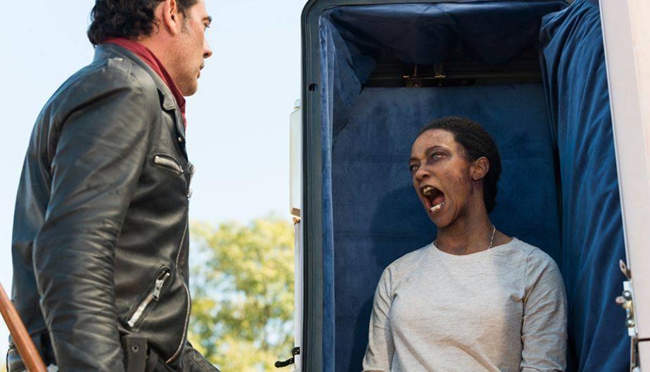 Jeffrey Dean Morgan no tiene más que elogios para el Sonequa Martin-Green (Foto: The Walking Dead / AMC)
