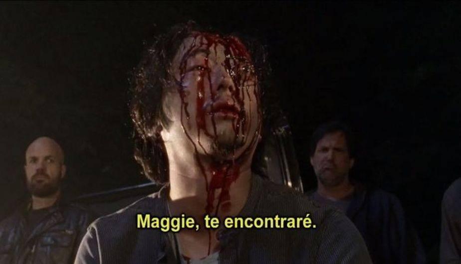 Abraham volvió. Antes de morir Sasha recordó su ultimo día con él, ¿en algún momento Glenn reaparecerá? ¿compartirá una escena con Maggie? (Foto: The Walking Dead / AMC)
