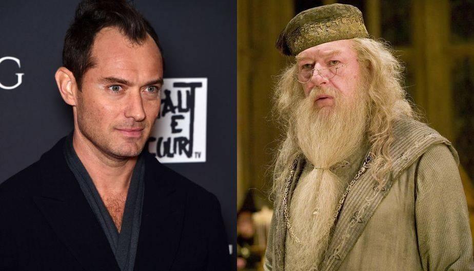 Jude Law es el nuevo Dumbledore del universo de Harry Potter (Foto: Getty Images / Warner Bros.)