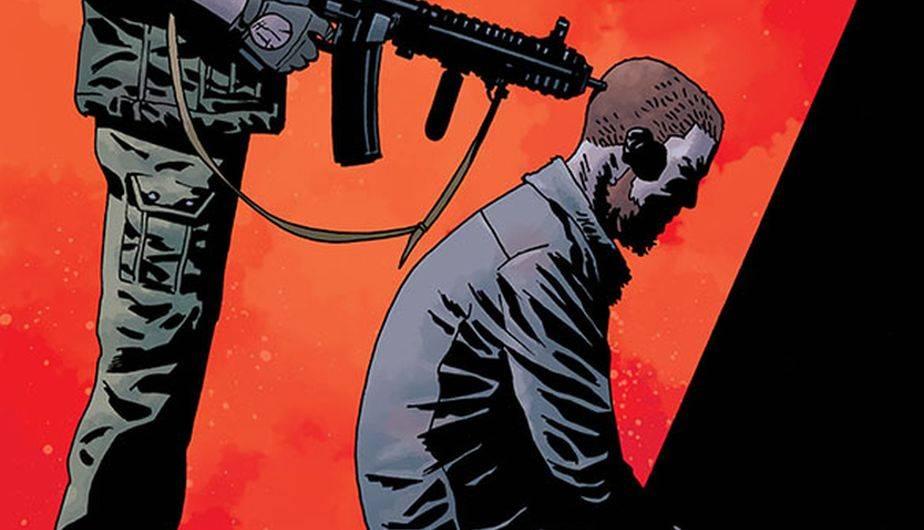 Dwight amenaza a Rick en la portada del #169 de 'The Walking Dead' (Foto: Image Comics)
