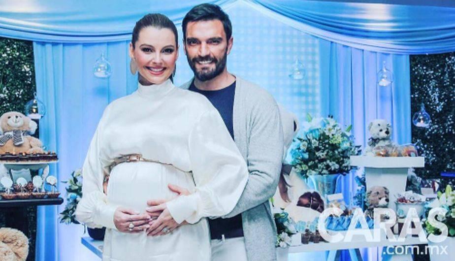 Marjorie de Sousa y Julián Gil celebraron con mucha ilusión el baby shower del pequeño Matías. (Foto: Instagram)
