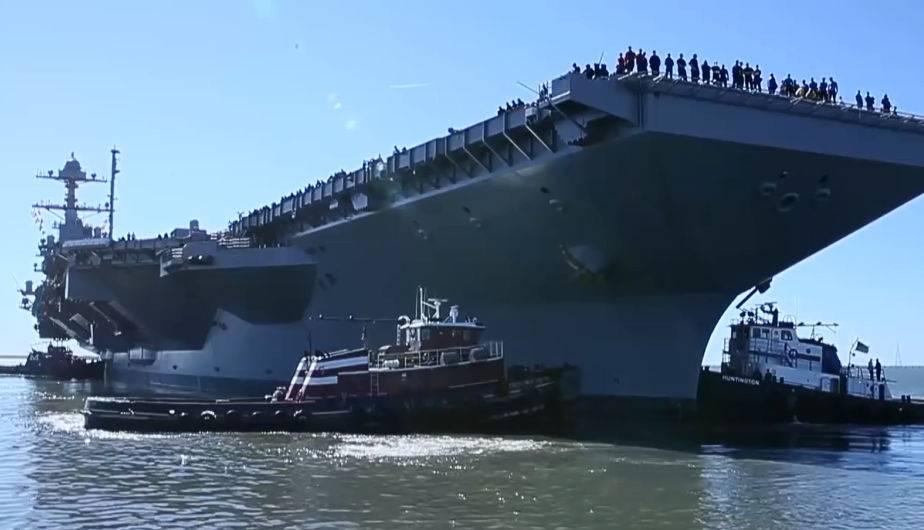 USS Gerald R. Ford, el portaaviones más caro y problemático de USA