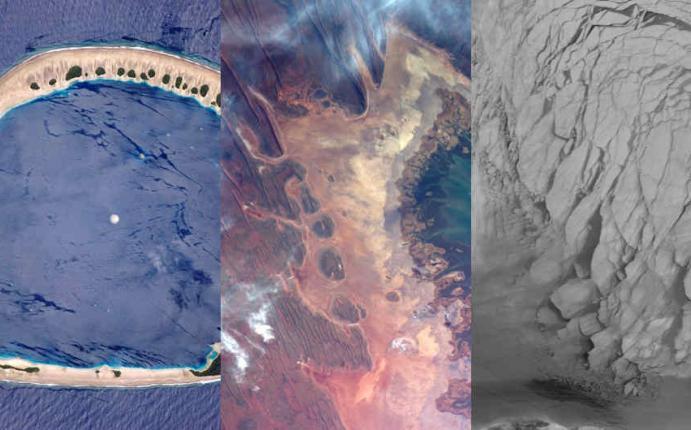 NASA: fotos de paisajes terrícolas 'de otro mundo' desde el espacio