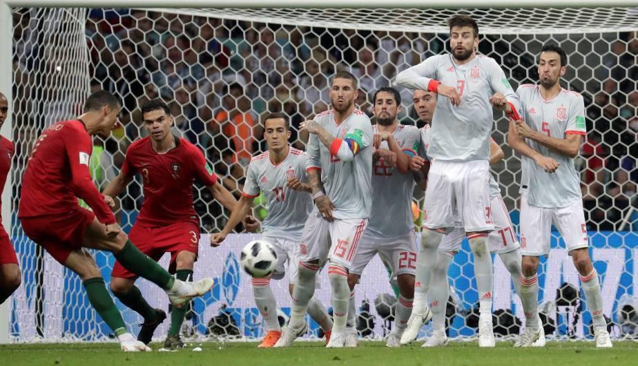 Cristiano Ronaldo, el héroe de la jornada en el Portugal vs España (Foto: EFE)