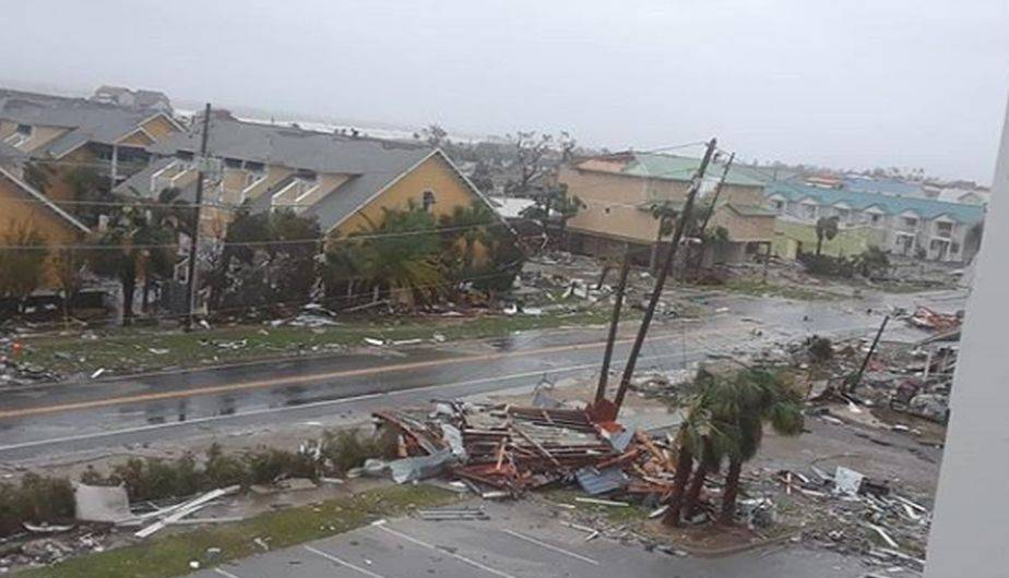 Desolador panorama en Florida tras el paso del huracán Michael