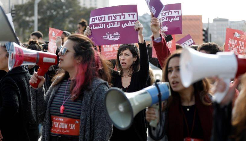 Mujeres En IsraelMiles Contra La Violencia De Machista Protestan iPZOkTXu