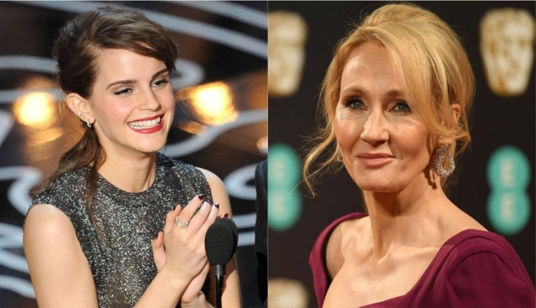 572db3b67c6b Emma Watson y su emotivo saludo de cumpleaños a J.K. Rowling: Todo ...