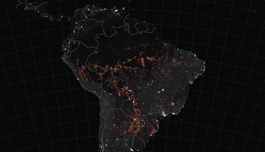 Nasa Mapa De Incendios.Incendio En El Amazonas Nasa Difunde Un Mapa De La Terrible